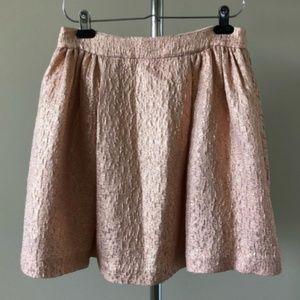 kate spade Skirts - Kate Spade Aimee rose gold metallic skirt size 8